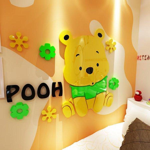 tranh-mica-dan-tuong-3d=pooh-vang